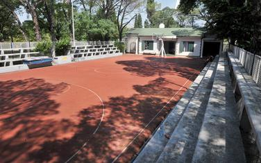 Košarkaški teren u Njegoševom parku