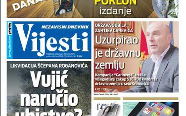 Naslovna strana za 22. februar 2020.