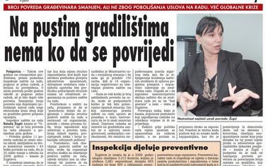 """Strana """"Vijesti"""" od 22. februara 2010."""