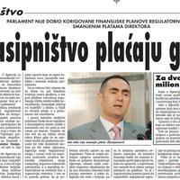 """Strana """"Vijesti"""" od 27. februara 2010."""