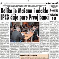 """Strana """"Vijesti"""" od 26. februara 2010."""