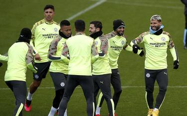 Fudbaleri Sitija sinoć na treningu u Madridu