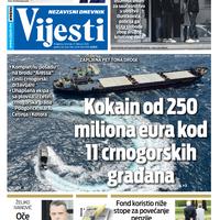"""Naslovna strana """"Vijesti"""" za 27. februar 2020."""