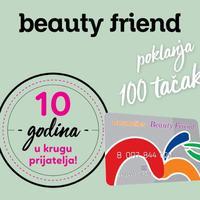 Svim korisnicima Beauty Friend kartice, 100 tačaka na poklon!