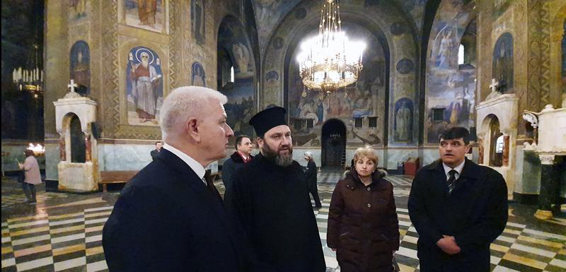 Marković u Hramu Svetog Aleksandra Nevskog