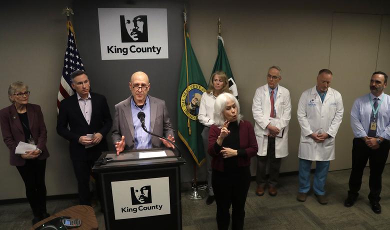 Sa pres konferencije koja je organizovana povodom smrti prve žrtve koronavirusa u SAD