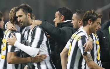 Vučinić slavi gol protiv Milana
