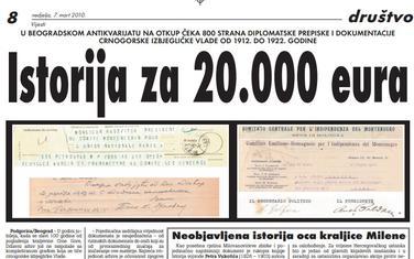"""Strana """"Vijesti"""" od 7. marta 2010."""