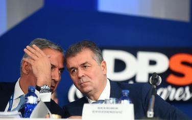 Predsjednik DPS Milo Đukanović i politički direktor Branimir Gvozdenović