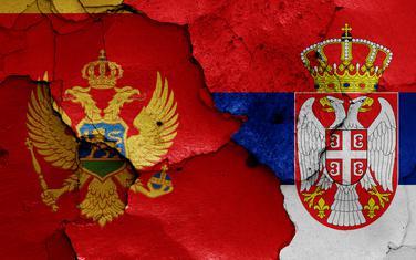 Zastave Crne Gore i Srbije (Ilustracija)