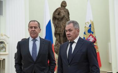 Ministar vanjskih poslova Rusije Sergej Lavrov i ministar odbrane Rusije Sergej Šojgu