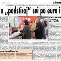 """Strana """"Vijesti"""" od 13. marta 2010."""