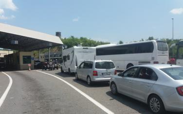 Detalj sa Graničnog prelaza Sukobin (ilustracija)