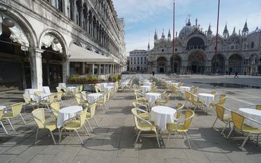 Prazan Trg Svetog Marka u Veneciji