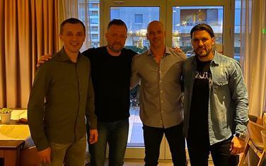 Predrag Bošković, Per Johanson, Petar Kapisoda i Adrijan Vasile