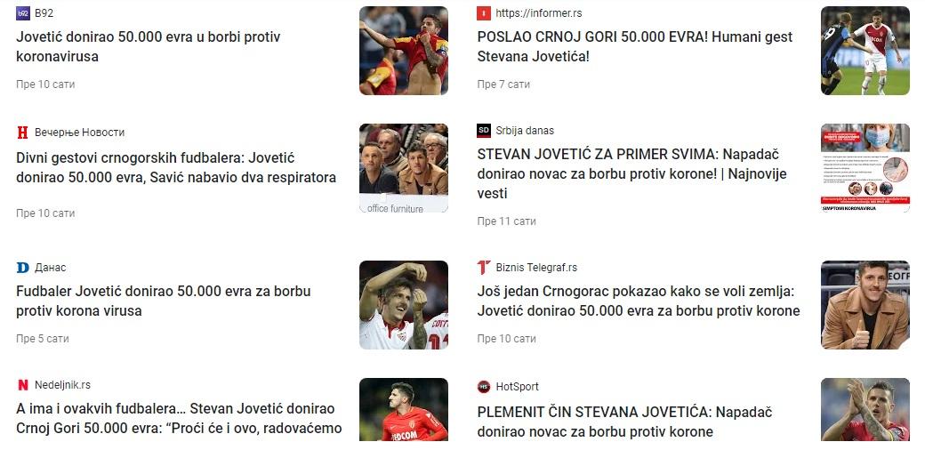 Naslovi u medijima