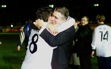 MIjatović i Sanc nakon finala Lige šampiona 1996.