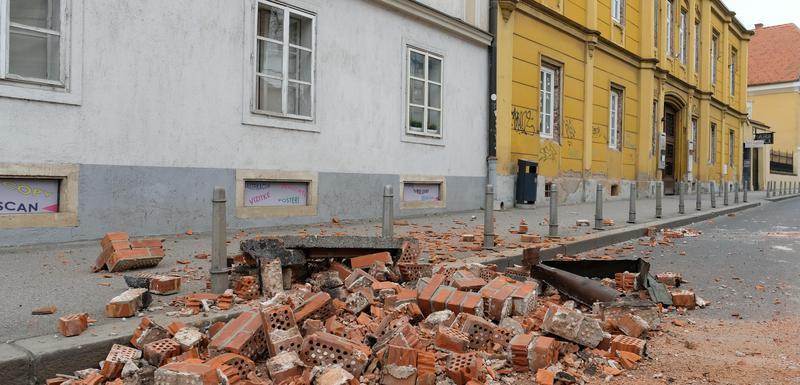 Detalj iz Zagreba nakon današnjeg zemljotresa