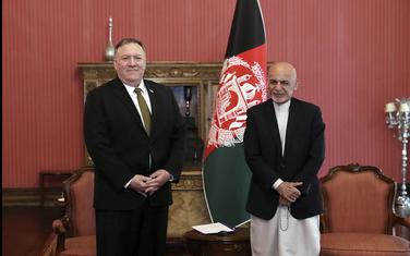Sekretar Sjedinjenih američkih država Majk Pompeo i afganistanski predsjednik Ašraf Gani