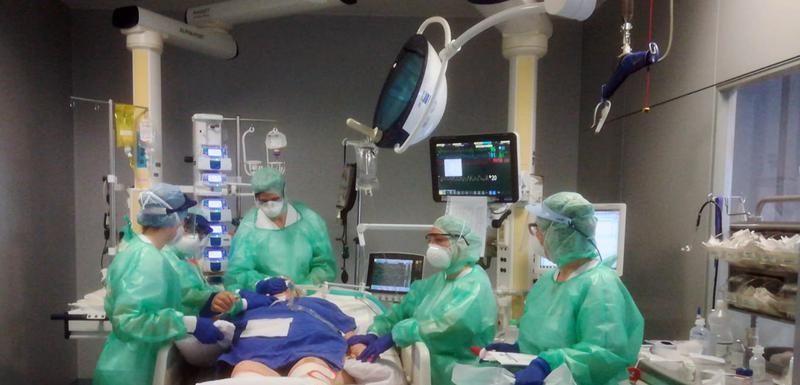 Detalj iz bolnice u italijanskom gradu Bergamo