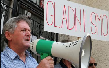 Vukčević na jednom od ranijih protesta dakićevaca