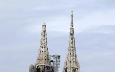 Zagrebačka katedrala nakon zemljotresa
