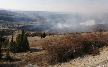 Požar u pljevaljskom selu Rudnica
