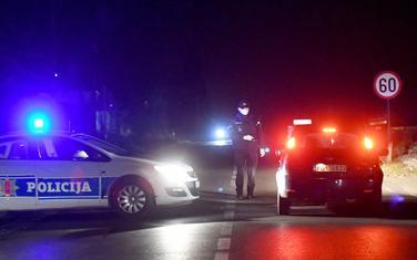 Patrole policije poslije mosta na Cijevni