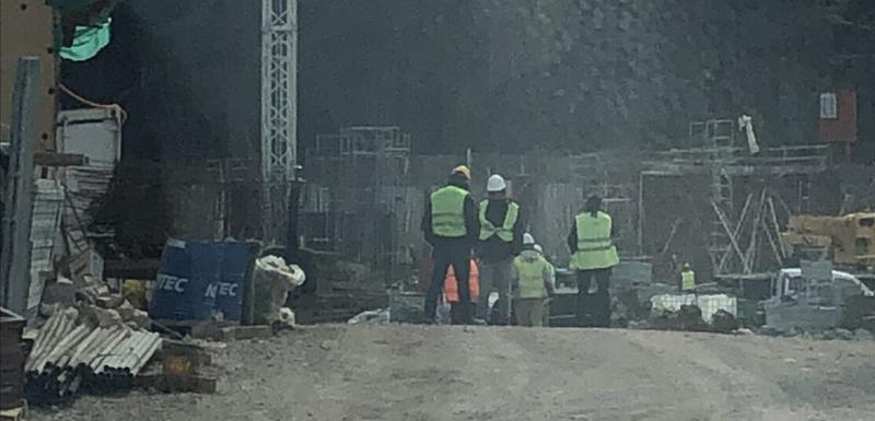 Radnici na gradilištu na Kraljičinoj plaži