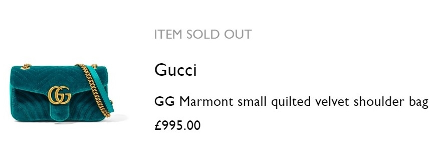 Guči torba koja košta 995 funti, odnosno oko 1075 eura