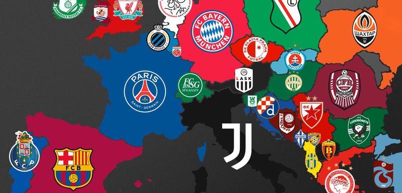 Mapa fudbalske Evrope sa liderima prekinutih šampionata