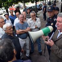 Sa jednog od protesta radnika Radoje Dakića