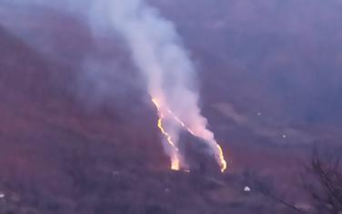 Požar u mjestu Vrujca