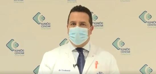 Eraković: Jedan pacijent životno ugrožen, 17 zdravstvenih radnika preventivno u karantinu