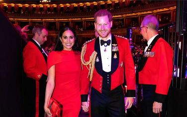 Megan Markl i princ Hari tokom posjete Britaniji