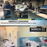 Poređenje snimka ii Italije i onog koji je emitovao CBS kao vijest iz Njujorka