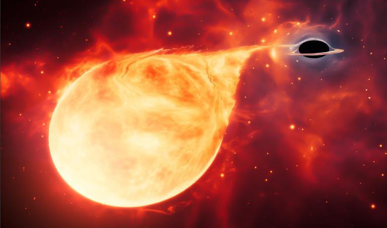 Pretpostavljena crna rupa otkrivena je kada je rascepila zvezdu koja je letela preblizu