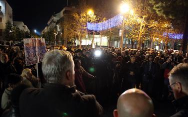 Sa jednog od okupljanja ispred Skupštine Crne Gore