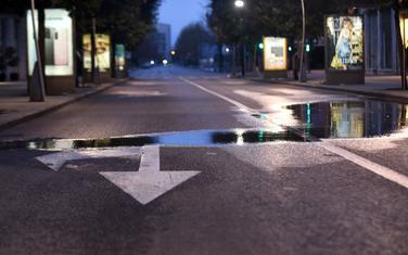 Puste ulice u centru Podgorice