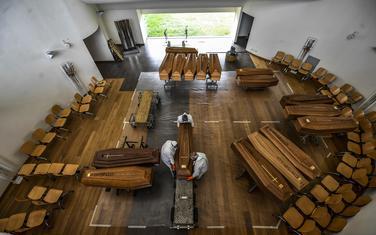 Kovčezi sa preminulima iz Bergama