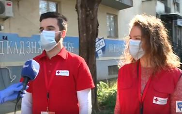 Volonteri Crvenog krsta, Danilo Bulatović i Jana Mitrović