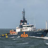 Remorker ALP Forward koji ide u pomoć brodu kapetana Peranovića