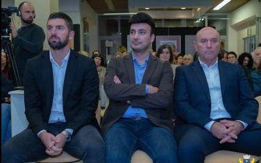 Mladen Mikijelj, Nikola Jovanović i predsjednik Opštine Budva Marko Carević