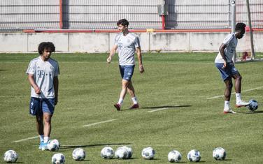 Fudbaleri Bajerna na treningu