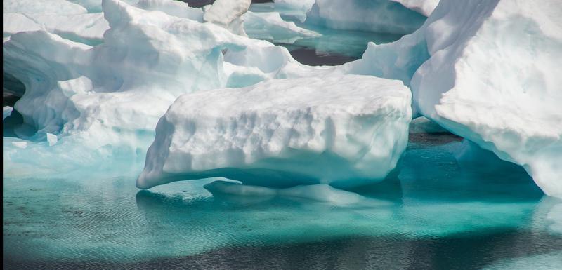 Nedostatak snijega izložio goli, tamni led koji je apsorbovao više toplote