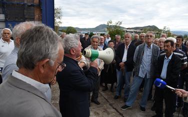 """Sa jednog od protesta bivših radnika """"Radoja Dakića"""""""