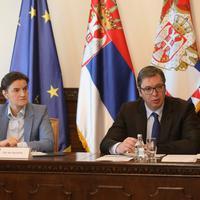 Predsjednica Vlade Srbije Ana Brnabić i predsjednik Srbije Aleksandar Vučić