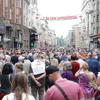 Protest antifašista u Sarajevu (Foto: Beta)