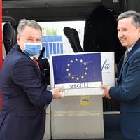 Ambasador Rumunije Ferdinand Nađi i direktor Direktorata za vanredne situacije MUP-a Mirsad Mulić